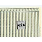 Half Scale  Wallpaper Regency Stripe blue JMS01 Jackson's Miniatures dollhouse