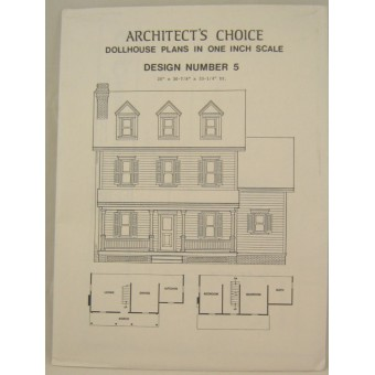 Dollhouse Plans Design #5 Architect's Choice 1:12 Scale Cape Code Farm House