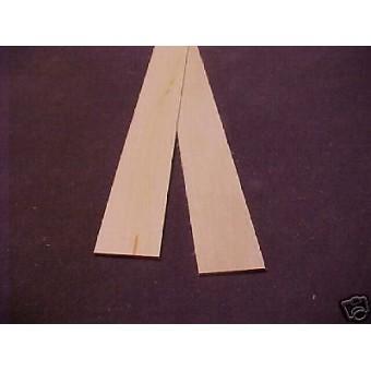 "1/16 x 3/4"" x 23""  Model Lumber basswood building dollhouse 2pcs"