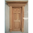 Half Scale - Yorktown Door 1:24 Dollhouse wooden  #H6014 miniature