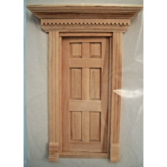 Half Scale - Yorktown Door 1:24 Dollhouse wooden  #H6014 miniature