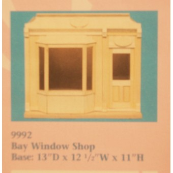 Bay Window Shop Kit by Houseworks 9992 unfinished wood 1/12 scale dollhouse