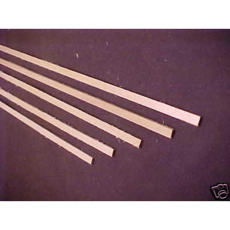 "1/16 x 1/4 x 24"" Model Lumber Strip Wood Dollhouse"