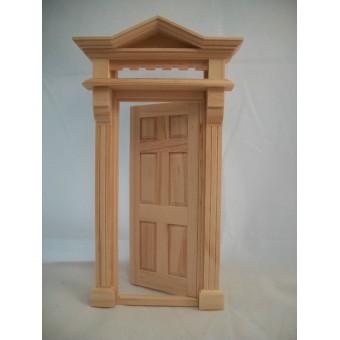 Victorian 6-Panel Door -  #6013  dollhouse fairy miniature 1pc wooden Houseworks
