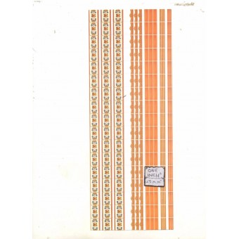 34378 orange tile borders dollhouse 1pc World & Model card stock
