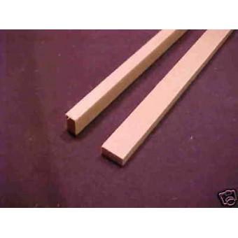 "Model Lumber 1/4x1/2 x24"" basswood scale supplies 2pcs"