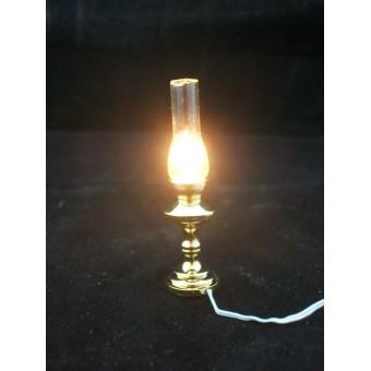 Light - Brass Oil Lamp 2517 dollhouse miniature 1/12 scale electric 1pc