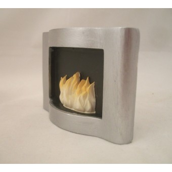 Chrome Fireplace -  plastic resin 4018 dollhouse miniature 1/12 scdale