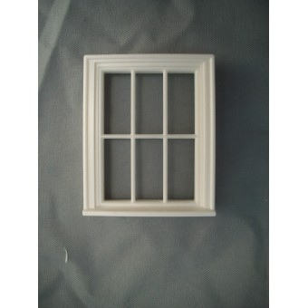 Half Scale 1:24 - Victorian 6 Pane  Window - Jackson's Miniatures Dollhouse #L10