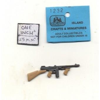 Thompson Sub machine Gun dollhouse 1/12 scale cast metal miniature ISL1232