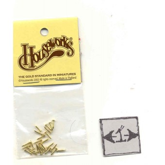 Brass Escutcheon Pins 1/12 scale hardware 12006 Houseworks 26pcs