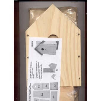 Birdhouse Wooden Kit - Size  7.5 x 6.25 x 13.78 inches   - #9190-114