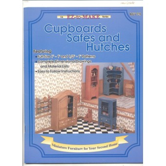 """Cupboards Safes & Hutches"" Booklet 1/12 & 1/24 scale plans BOY139"