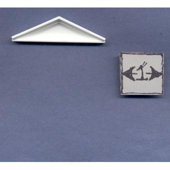 Half Scale - Pediment  dollhouse miniature Jackson's Miniatures 1/24 scale L07