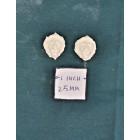 Applique - Lion's Head 2p -  UMA29 -  polyresin 1/12 scale dollhouse miniature