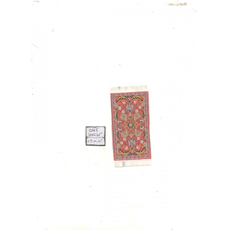 Half Scale Rug #17  dollhouse carpet throw miniature woven fabric from Turkey