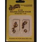 "Door Knobs Round  1"" scale dollhouse hardware  #1145 6pcs"
