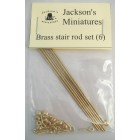 Brass Stair Rod Set (6) -  Jackson's Miniatures dollhouse  hardware  1/12 scale