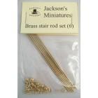 Brass Stair Rod Set (6) -  Jackson's Miniatures dollhouse  hardware  1/12 scale