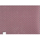 Red Brick w Black Mortar Molded Sheet dollhouse miniature FF60660 1pc 1/12 scale