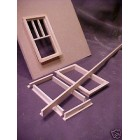 Shorts - Window & Door Frame Stock  Dollhouse trim L-shape basswood