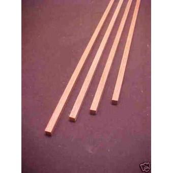 "Red Oak 1/4""x1/4""x23"" wood trim ship building model 4pc"