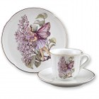 Lilac Fairy Teacup & Plate Set for Children Reutter Porcelain 75.534/4