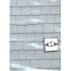"Slate Tile Roof Sheet  - 1/12 scale Model Builders Supply  SLT-12  14""x24"" 1pc"