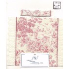 Bed Cover Set - Rose French Toile - 1/12 scale dollhouse miniature DHS5265