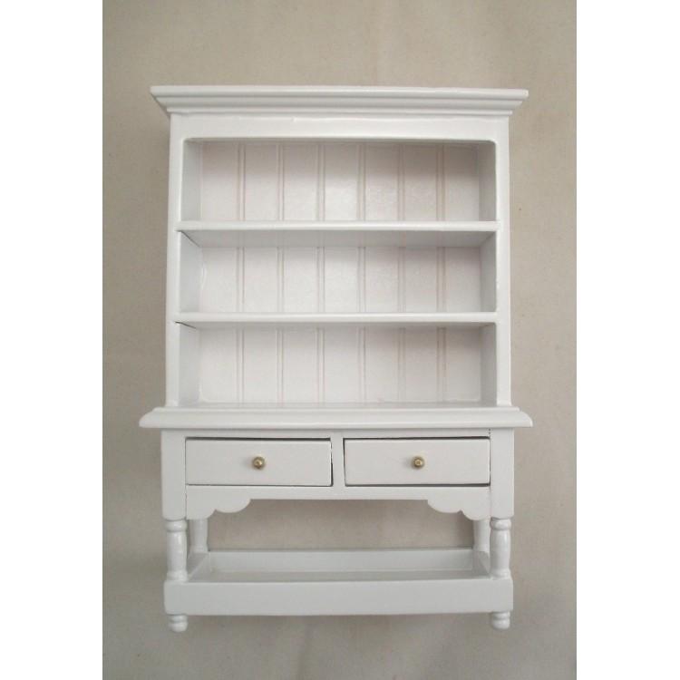 Kitchen Hutch - White T5360 miniature dollhouse furniture ...