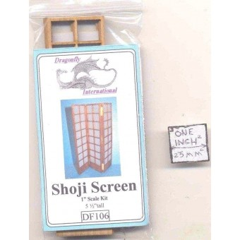 Kit - Shoji Screen Kit DF106 dollhouse furniture kit Dragonfly 1/12 scale wood