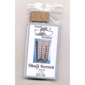 Shoji Screen Kit DF106 dollhouse furniture kit Dragonfly 1/12 scale wood