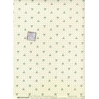 Millie's Bow Millie wallpaper dollhouse miniatures 1pc 4066 paper White/Green