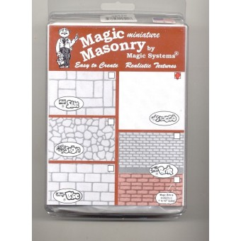 """Magic Masonry""  Stucco White  -2-1/2 sqft dollhouse miniature SW520 all scales"
