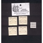 Applique - Gothic Blocks 4pcs - UMA20  polyresin 1/12 scale dollhouse miniature