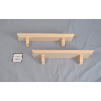 "Shelves 6"" Fashion Doll miniature dollhouse trim 2pcs 1/6 & 1/8 scale MW0860"