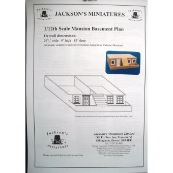Dollhouse Plans: Mansion Basement Plans for Victorian  / Georgian 1/12 scale A08