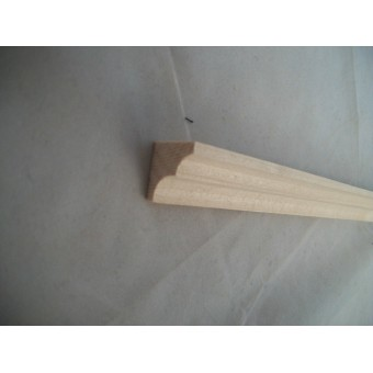 Crown Molding 3 Fashion Doll house trim wood 2pc MW0823 for Barbie size