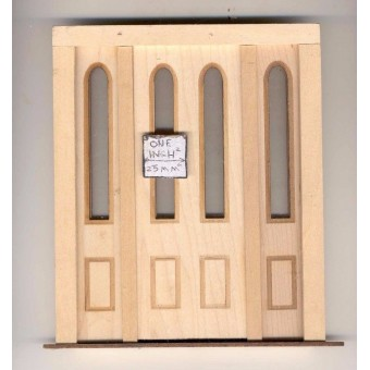 Door - Arches w/ Side Lights - 2314SL dollhouse miniature 1:12 scale USA Made