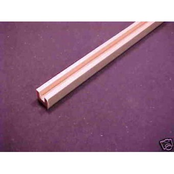 "Rear Corner Post & Edge fits Dura Craft part 5-1 1pc 36"" Long basswood dollhouse"