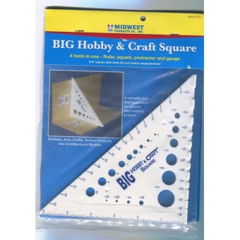 Square for Craft & Hobby -  ruler gauge protractor multi tool   #1137