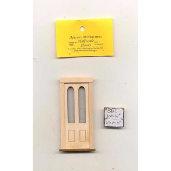 Half Scale -  Door 2314HS dollhouse wooded miniature 1/24 scale USA