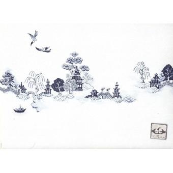 China Grove Mural 38A7234 miniature dollhouse wallpaper 1/12 scale MiniGraphics