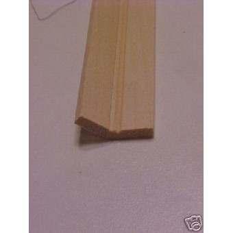 120 degree Corner Edge Molding trim dollhouse 1pc 36""