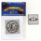 Simulated Stain Glass #SLIM16 dollhouse miniature 1/12 scale plastic 1pc