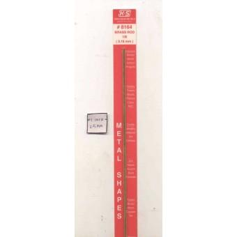 """Brass Solid Round Stock 1/8""""  X 12""""  - K&S #KS8164 1pc"""