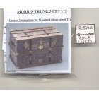 Lithograph Wooden Trunk Kit Morris 3 dollhouse miniature 1/12 scale CPT112  USA