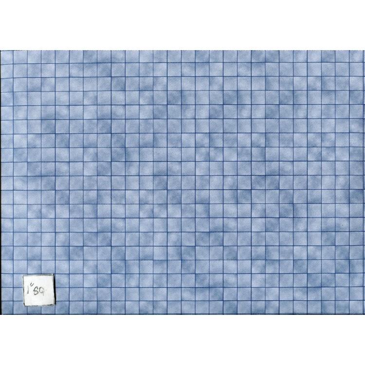 Marble Tile Blue Paper Flooring Jacksons Miniatures Dollhouse 1pc