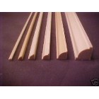 "Quarter Bead Molding 3/16 x 3/16 x 23"" dollhouse 3p trim basswood"