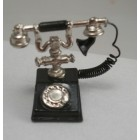 1920s Phone miniature Telephone  metal w / cord  1/12 scale G8638 dollhouse